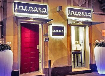 entrance of the restaurant at alba larossa